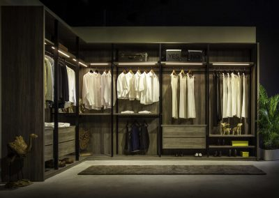 ALBED Solo wardrobe in ash woodgrain finish